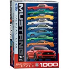 """Mustang """"50 Years"""" Jigsaw Puzzle - PZ-012P- Mustang Memorabilia, Classic Car, Classic Cars, Classic Car memorabilia."""