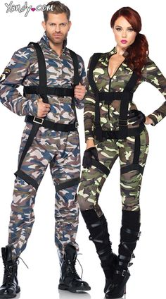 mens military combat stud costume - Halloween Army Costumes