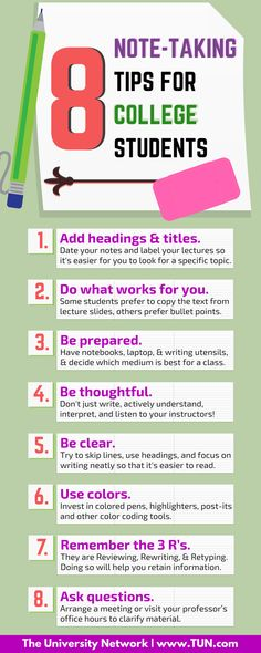 8 Note-Taking Tips for College Students
