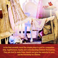 সপ্তম পাক । #ABPweddingsTrivia Bengali Bride, Bengali Wedding, Wedding Trivia, Wedding Rituals, Praying To God, Couples, Couple, Romantic Couples