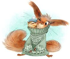 Andrew Wamboldt - couple o' Nordic knit squirrelies for AnimalSweaterSunday Illustration Mignonne, Children's Book Illustration, Character Illustration, Squirrel Illustration, Cute Drawings, Animal Drawings, Art Fantaisiste, Squirrel Art, Art Mignon