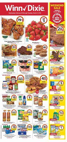 Winn Dixie Weekly Ad February 28 - March 6, 2018 - http://www.olcatalog.com/grocery/winn-dixie-weekly-ad.html
