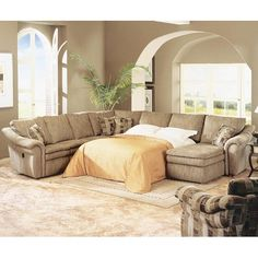Devon Devon 5 Piece Sectional with Chaise and Sleep Sofa by La-Z-Boy : lane megan sectional - Sectionals, Sofas & Couches