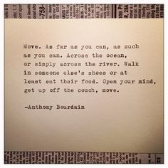 Anthony Bourdain Quote Typed on Typewriter by farmnflea on Etsy, $8.00