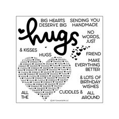 Concord & 9th CUDDLES & HUGS Clear Stamp Set 10198C9