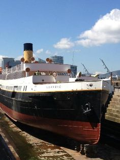 The SS Nomadic in Hamilton Dock. Belfast, Ireland