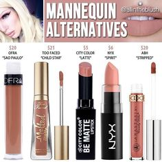 "Lipstick dupes 856669160356083685 - Jeffree star ""mannequin"" dupes // Kayy Dubb – Source by morinterschustw Beauty Blogs, Beauty Make-up, Beauty Dupes, Natural Beauty, Beauty Products, Beauty Ideas, Makeup Products, Mascara, Eyeliner"