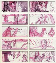 Storyboards of Star Wars prequel ★ || CHARACTER DESIGN REFERENCES | キャラクターデザイン • Find more artworks at https://www.facebook.com/CharacterDesignReferences & http://www.pinterest.com/characterdesigh and learn how to draw: #concept #art #animation #anime #comics #storyboard || ★