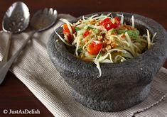 Som Tam (Thai Green Papaya Salad) - | Healthy Malaysian Food Blog & Food Recipes