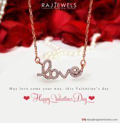 Happy #Valentine's Day...enjoy the day http://stores.ebay.com/Raj-Jewels-India #Love #pendant #necklace #Giftforher #fine #Jewelry #Jewellery #Solidgold #rosegold #naturaldiamond #Pavediamond #rosegold #Jewelryonsale #Jewelrysale