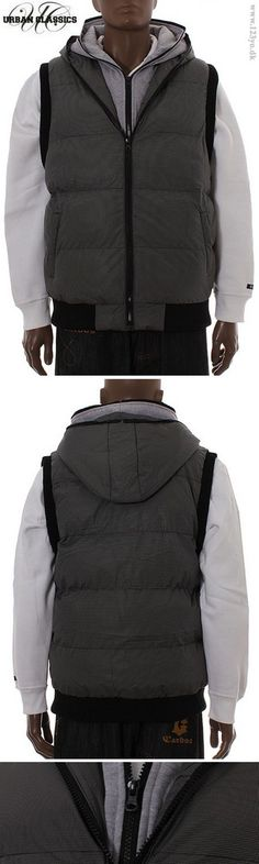 Urban Classics Double Hooded Vest i grå farve  i street wear stil.  http://www.123yo.dk/shop/urban-classics-double-1132953p.html