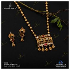 Antique Jewellery Designs, Gold Jewellery Design, Antic Jewellery, Gold Mangalsutra Designs, Gold Earrings Designs, Gold Jewelry Simple, Necklace Set, Gold Necklace, Antique Necklace