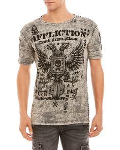 Affliction Grey Warhawk Tee