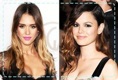 Take a look at Jessica Alba and Rachel Bilson's hair for tips on how to work this season's ombre hair