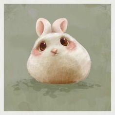 动物 萌物 插画 壁纸 兔子