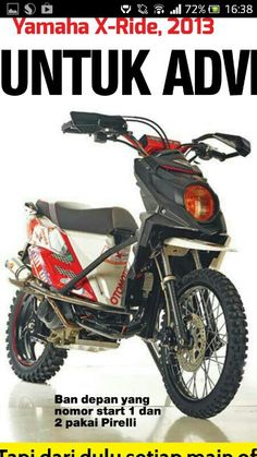 Yamaha X Ride Modifikasi Adventure top