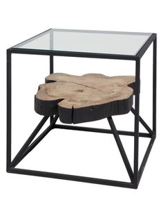 Floating Square Side Table from Inspired by Big Sur on Gilt