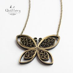 Quilling Jewelry OOAK Quilled Paper Butterfly by LeQuillery, $17.00