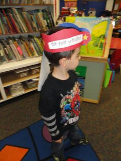 President's Day hats that we made to help remind us about George Washington.
