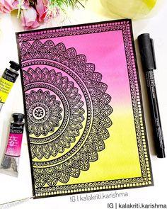 Abstract Tree Painting, Madhubani Painting, Mandala Painting, Mandala Drawing, Mandala Doodle, Mandala Art Lesson, Mandala Artwork, Doodle Art Drawing, Pencil Art Drawings
