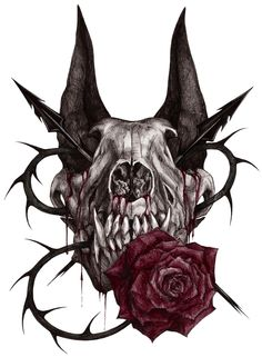 Wolf skull by xX-Samira-Hunter-Xx.deviantart.com on @DeviantArt