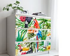 Upgrade your walls with this elegant Tropical Animals Wall Mural adding an exclusive touch to your personal style and surprise your family and friends. Temporary Wallpaper, More Wallpaper, Animal Wallpaper, Fabric Wallpaper, Furniture Covers, Furniture Decor, Tropical Animals, Self Adhesive Wallpaper, Tropical Decor