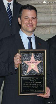 star Jimmy Kimmel received a star