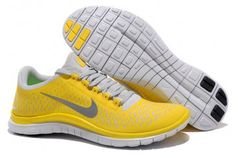 Nike Free 3.0 V4 Mens Chrome Yellow Reflect Silver Platinum
