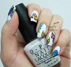 Lucy's Stash: Watercolour (aquarelle) butterflies nail art