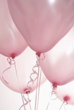 I only have pink party balloons. The shop down the street may have blue.