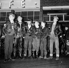50 Years of British Style: Young bikers outside the Ace Cafe, London, 1962