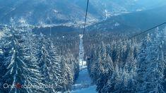 This Gondola takes you to Cota 2000, Sinaia, Romania.