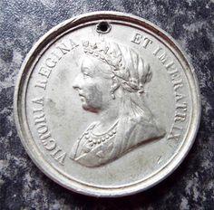 QUEEN VICTORIA 1897 DIAMOND JUBILEE MEDALLION / MEDAL Queen Victoria, Badges, Diamond, Badge, Diamonds