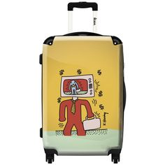 iKase Pop Art Keith Haring TV,Check-in 24-inch .Hardside Spinner Luggage