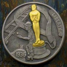 James Olivencia - Nick and Oscar Hobo Nickel, Coin Art, Rare Coins, Metal Art, Sculpture Art, Buffalo, Cactus, Miniatures, Carving