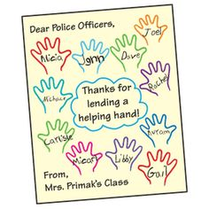 Thank-You Posters, Lesson Plans - The Mailbox