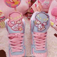 Kawaii Pastel little star twins sneakers