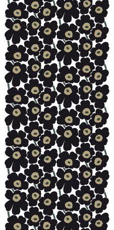 Pieni Unikko II Fabric White/Black/Khaki