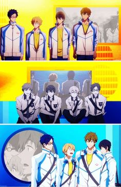 Free! Iwatobi Swim Club. I FINISHED IT. BEAUTIFUL. I CRIED. A LOT. STILL CRYING. EPISODE 12 FROM FREE! ES MADE MY FEELS AND MY SHIP COME ALIVE
