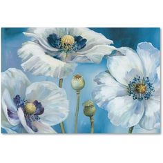 Trademark Fine Art Blue Dance I Canvas Art by Lisa Audit, Size: 16 x 24, Multicolor