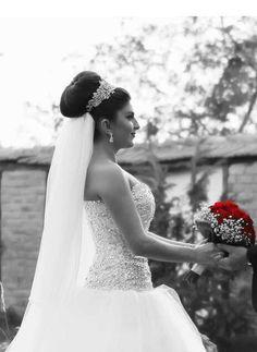 Wedding... Interesting hair and dress :)