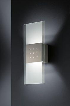 Modern Wall Lights | satin silver wall light ID | The Lighting Centre | Italian Lighting ...