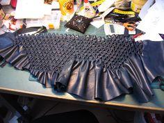 smocking leather - in progress by learningtofly_katafalk, via Flickr