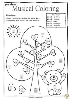 Valentine`s Day Music Worksheets {Line-Space, High-Low} Music Lessons For Kids, Art Lessons Elementary, Teaching Aids, Teaching Music, Music Theory Worksheets, Space Music, Music Crafts, Music Activities, Music Classroom