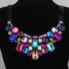 KETTE exaggerated Multicolor STATEMENT Glamour von update-your-style auf DaWanda.com