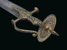 A Northwest Indian or Persian Straight Sword Sword Hilt, Damascus Sword, Swords And Daggers, Knives And Swords, Indian Sword, Pretty Knives, Hanuman Wallpaper, Medieval Weapons, Arm Armor