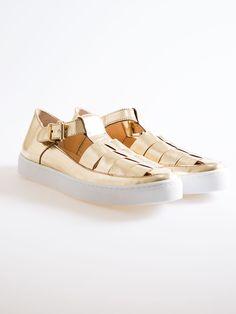 Dixie 2017 - scarpe oro - cod.4477T017 - 60% cuoio 40% gomma - È 119 - scontate a Euro 83,30