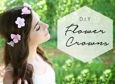 D.I.Y Flower Crowns - how to make a simple floral crown