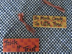 Halloween Candy Sign Halloween DecorSo Much by BrownBeaverBeadery
