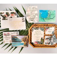 Love my tropical wedding invites! Thank you to everyone who helped make these from scratch and @paperchasepress who printed them so pretty:) xxx